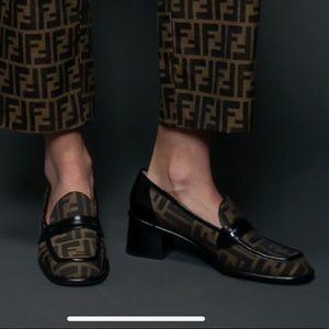 Fendi Zucca Print Oxford Heels